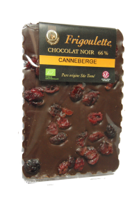 Tablette chocolat noir canneberge Bio Equitable (100g)